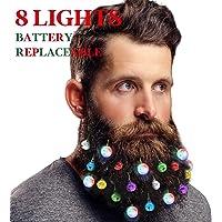 DecoTiny Lot de 16 décorations pour Barbe 4 grelots et 12 Boules de Noël de Couleurs différentes. Excellente idée Cadeau.