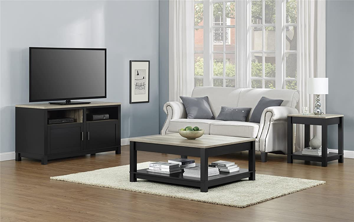 Ameriwood Home Carver Coffee Table, Black