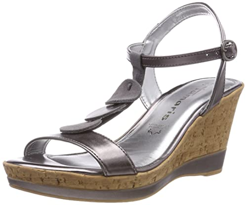 tamaris pumps rot, Tamaris high heel sandaletten pewter
