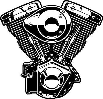 Amazon Com Black And White Monochrome Sexy Car Engine Cartoon 2