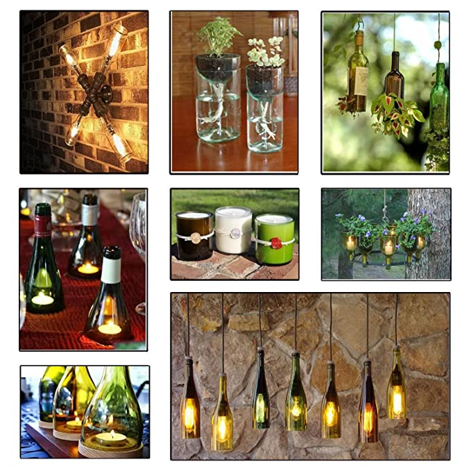 SYYL - Cortador de botellas de cristal, diseño de oso de vino, kit de herramientas para cortar botellas de vino creativo, jarrón creativo: Amazon.es: ...