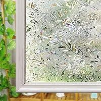 Ventana Privacidad de Vidrio Esmerilado Película, Reutilizable Anti-UV