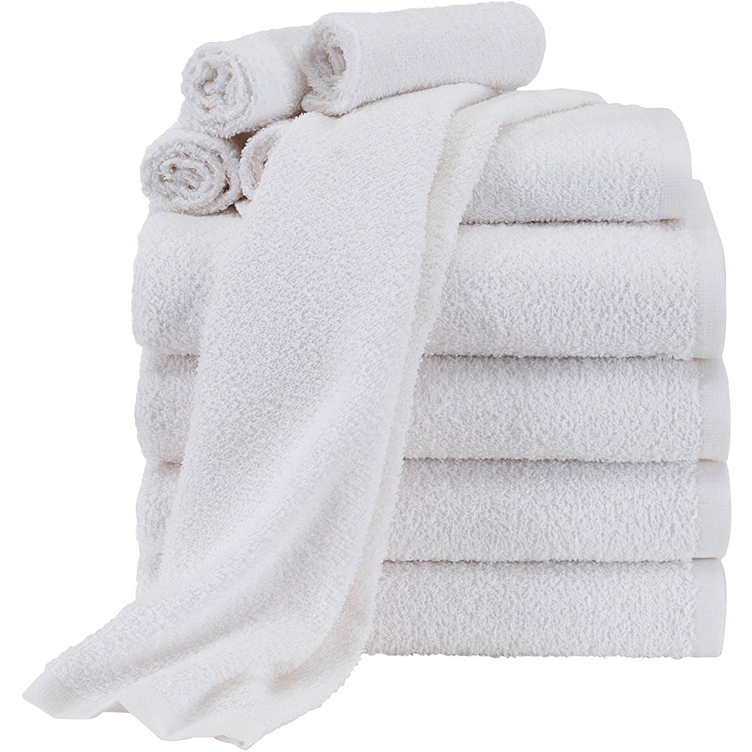 Mainstays Value 10-Piece Towel Set | 100% Light Terry Cotton - (Grey) N433248