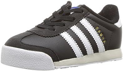 on sale 17f75 4898b adidas Originals Boys  Samoa I Running Shoe Black White Talc 4 Medium US