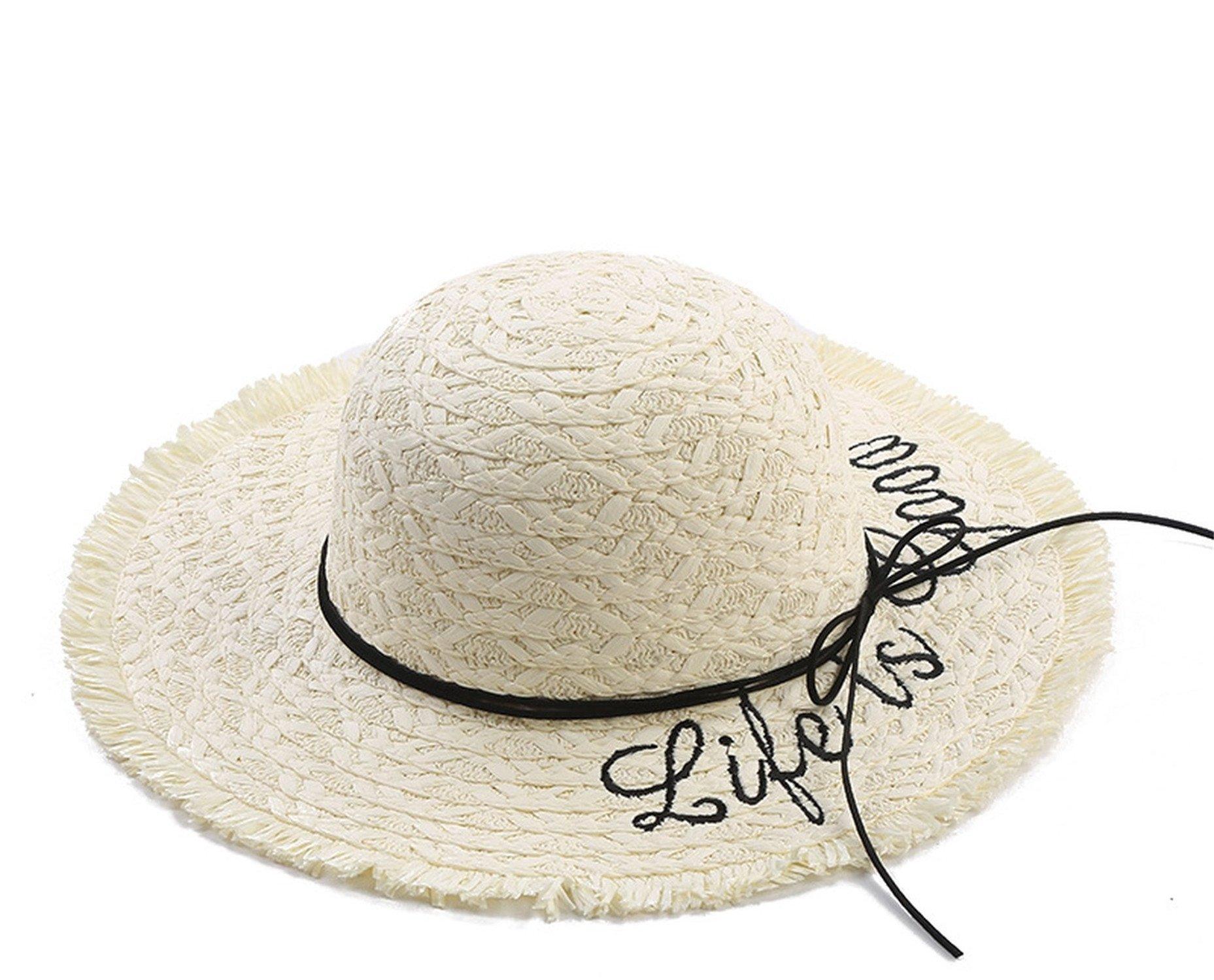 Sllxgli spring and summer travel straw hat fashion straw hat sun hat