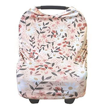 Cart Cover in 1 Cover Carseat Nursing Peach Striped Succulent 4 Scarf