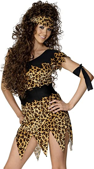 Smiffys 28600L - Disfraz de cavernícola para mujer, talla L ...