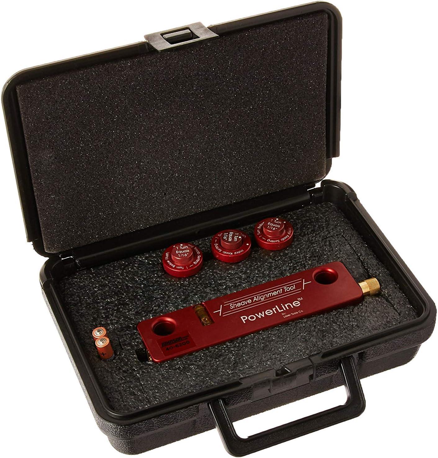 Johnson Level 40-6200 Red Beam Magnetic Sheave Alignment Kit, Red