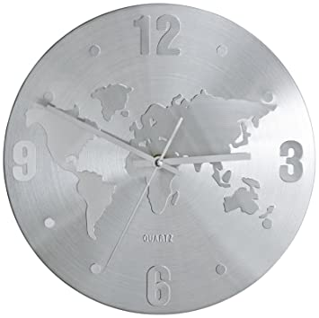 Cheap kare horloge murale carte du monde with horloge for Orologi da parete maison du monde