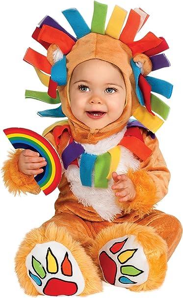 Disfraz de león arcoiris para bebé - de 12 a 18 meses: Amazon.es ...