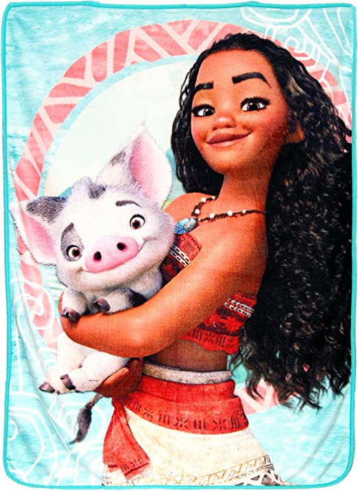 "NEW Disney Moana Voyagers with Pua Micro Throw Blanket 46/"" x 60/"""