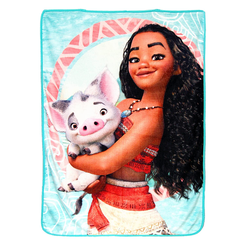 Disney's Moana,Voyagers Micro Raschel Throw Blanket, 46' x 60', Multi Color 46 x 60 The Northwest Company 1DMA659000002AMZ