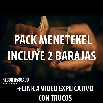 Trucos de Magia - Pack de 2 Barajas Mene-Tekel en cajas con DVD incluído