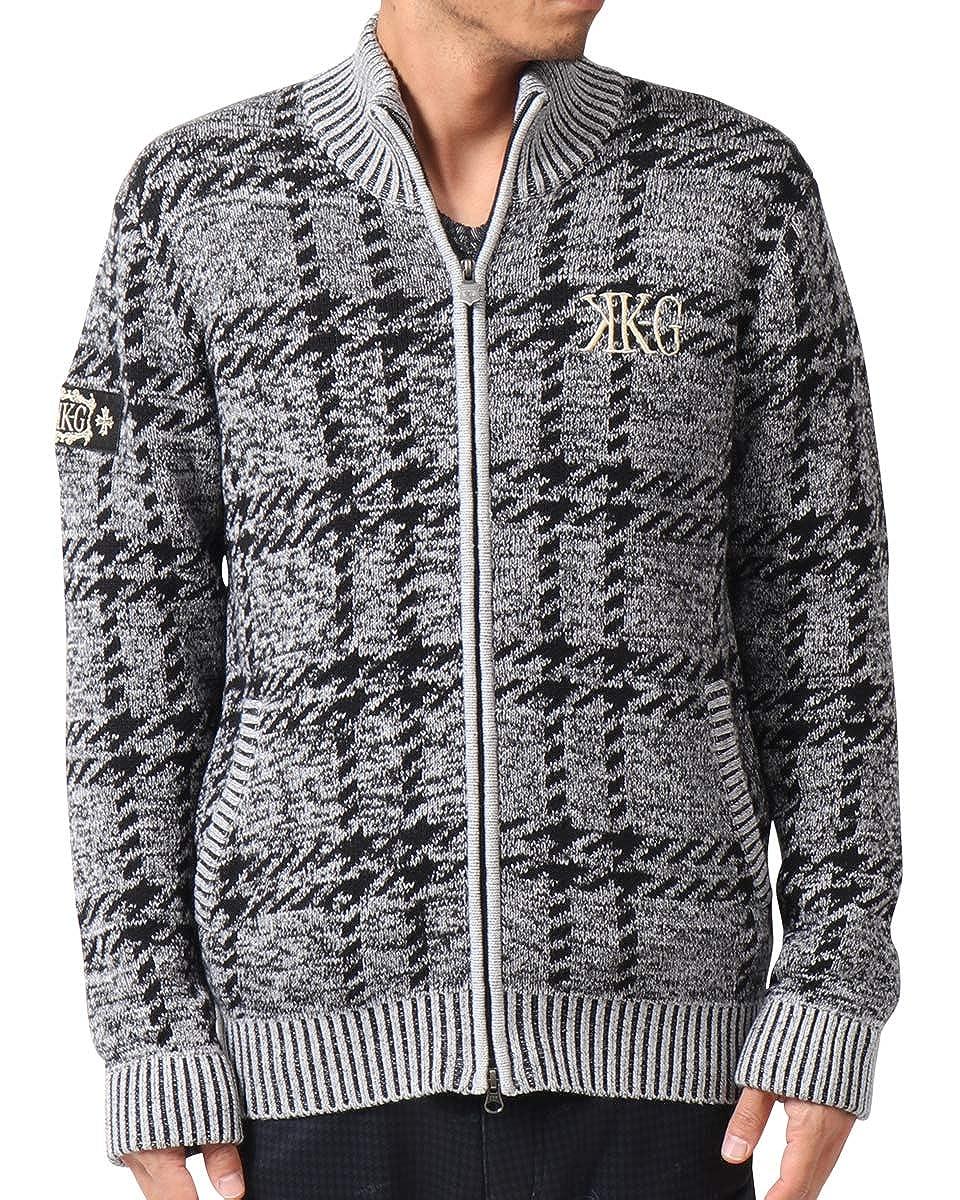 [カールカナイ ゴルフ] Karl Kani GOLF ジャケット ジップアプ ニット スタンド 183KG1405 XL グレー B07KPRMBQX