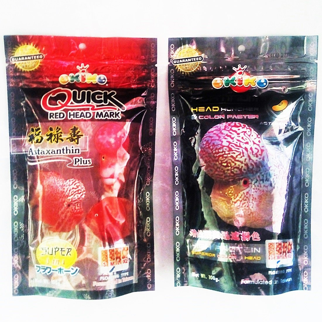Amazon.com : Set Of 2 Quick Red Mark, Platinum Head Huncher Cichlid ...