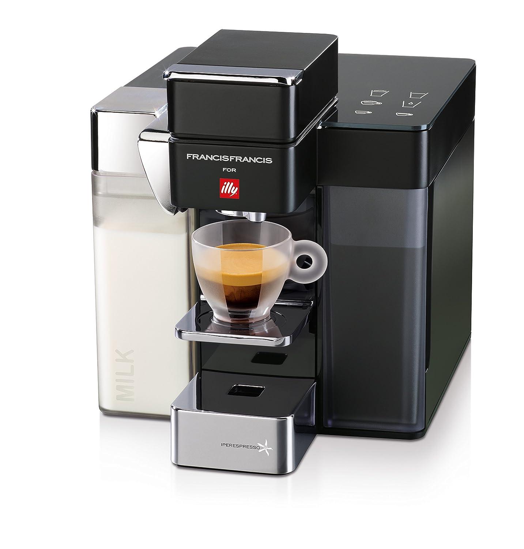 illycaffè Y5 Milk Iperespresso, 0.8 Liters, Aluminio, Gris y negro