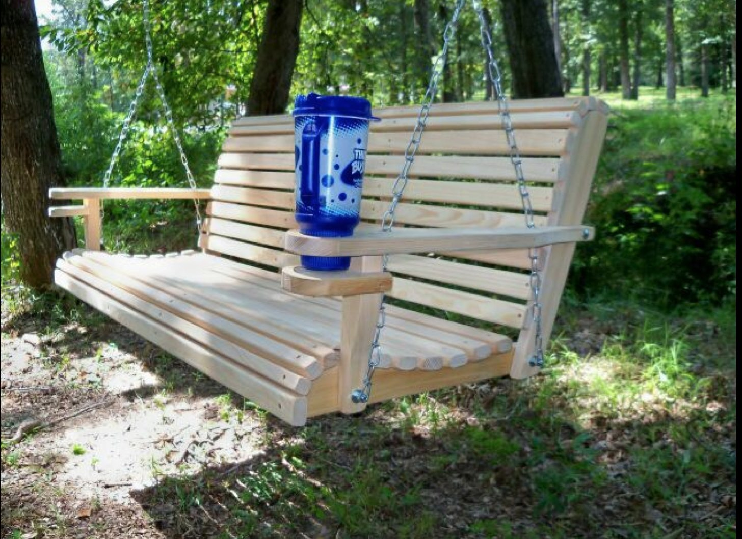 Amazing Amazon.com : 5 Ft USA Made Cypress Roll Back Porch Swing With Swing MateTM  Comfort Springs And Cup Holder Arm And Stainless Steel Hardware Upgrade :  Wooden ... Amazing Ideas