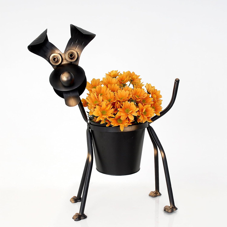 Dog Planter Flower Pot Dog in a Bag Planter Garden Patio Ornament Decoration