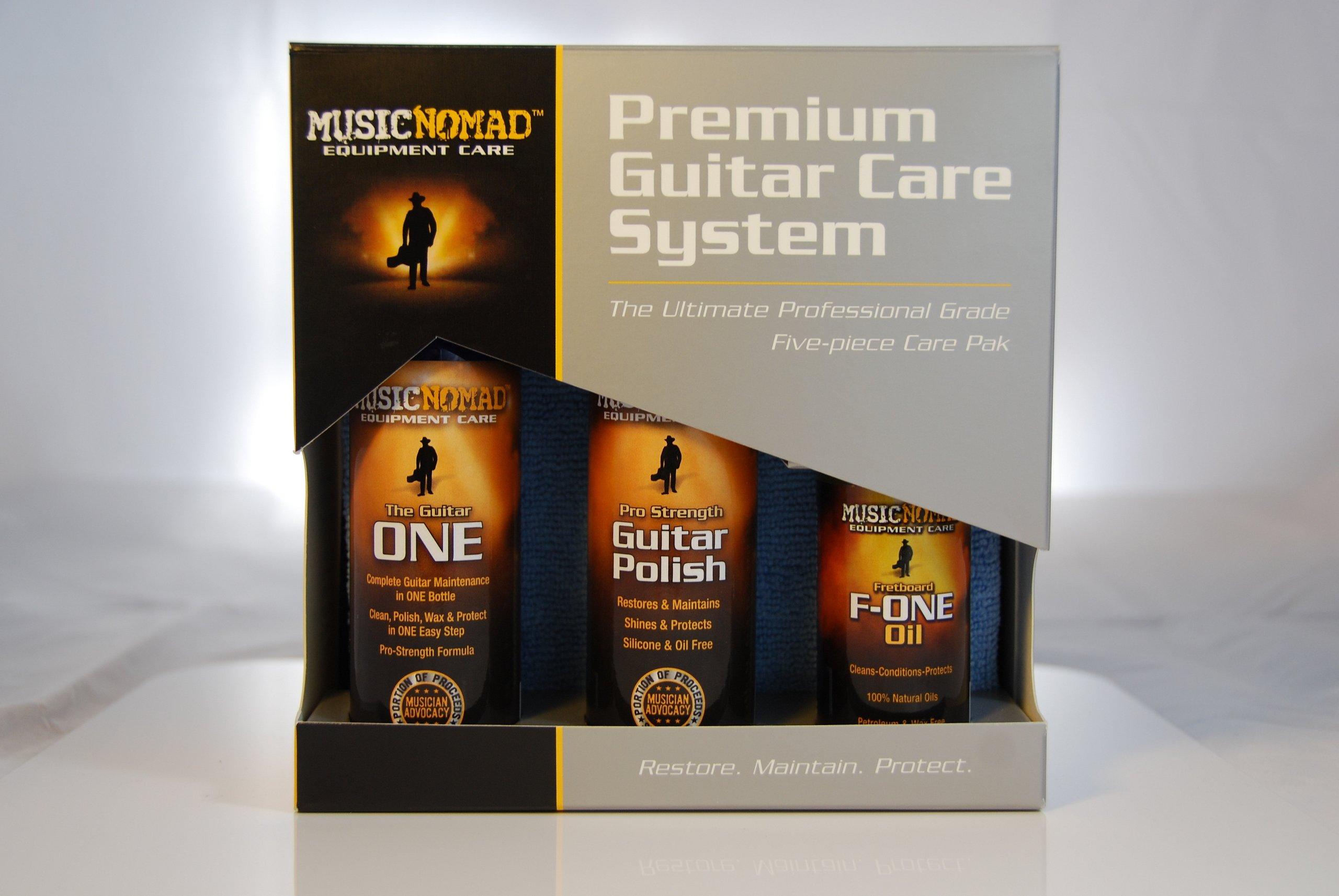 Music Nomad MN108 Premium Guitar Care 5-Piece Kit