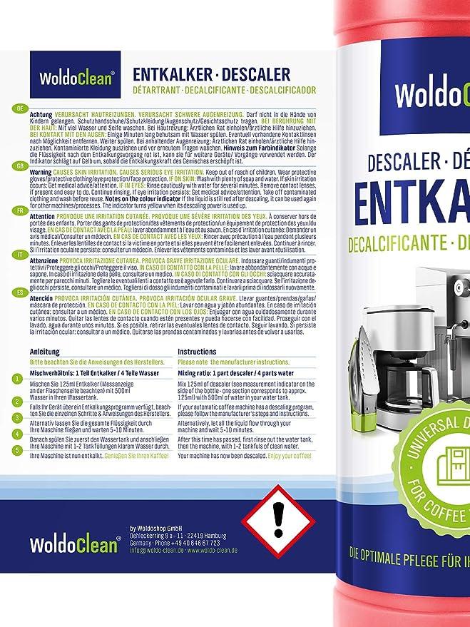 Descalcificador para cafetera concentrado liquido 2x 750ml ...