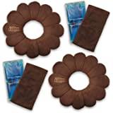 Total Pillow Microbead Portable Pillow - Use at Home On The Go to Support Your Neck, Back Knees, Set of 2 in Brown