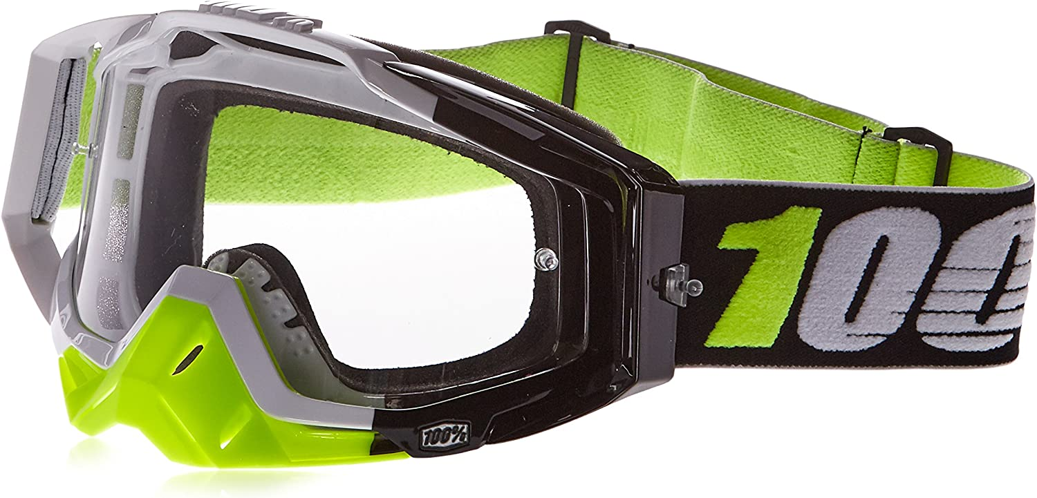100/% 50100-189-02 Unisex-Adult Kepler Racecraft MX Motocross Goggles With Clear Lens Red//Light Blue,One Size Fits Most