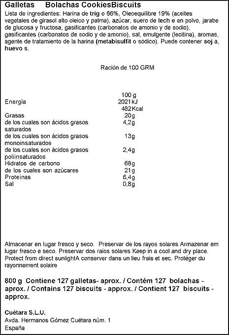 Cuetara - Galletas Maria Oro 800 g: Amazon.es: Alimentación y bebidas