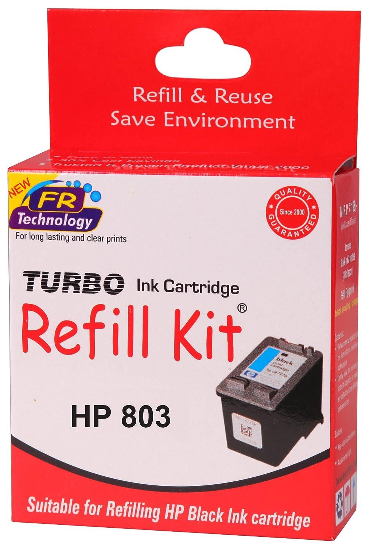 turbo refill kit for hp 803 black ink cartridge amazon in
