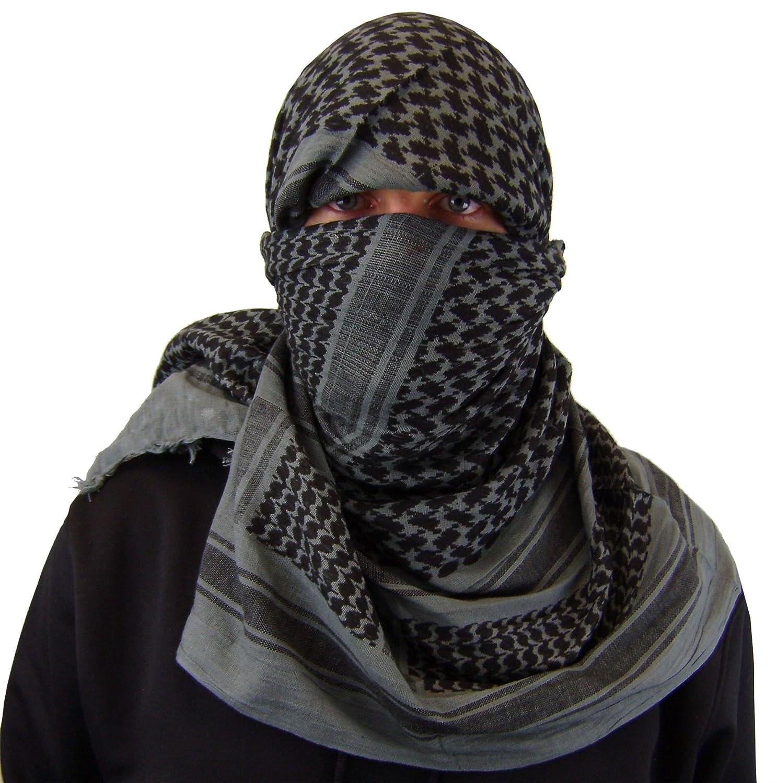 Amazon.com  Maddog Sports Shemagh Tactical Desert Scarf - Grey   Black   Home   Kitchen 51b7568e4dd