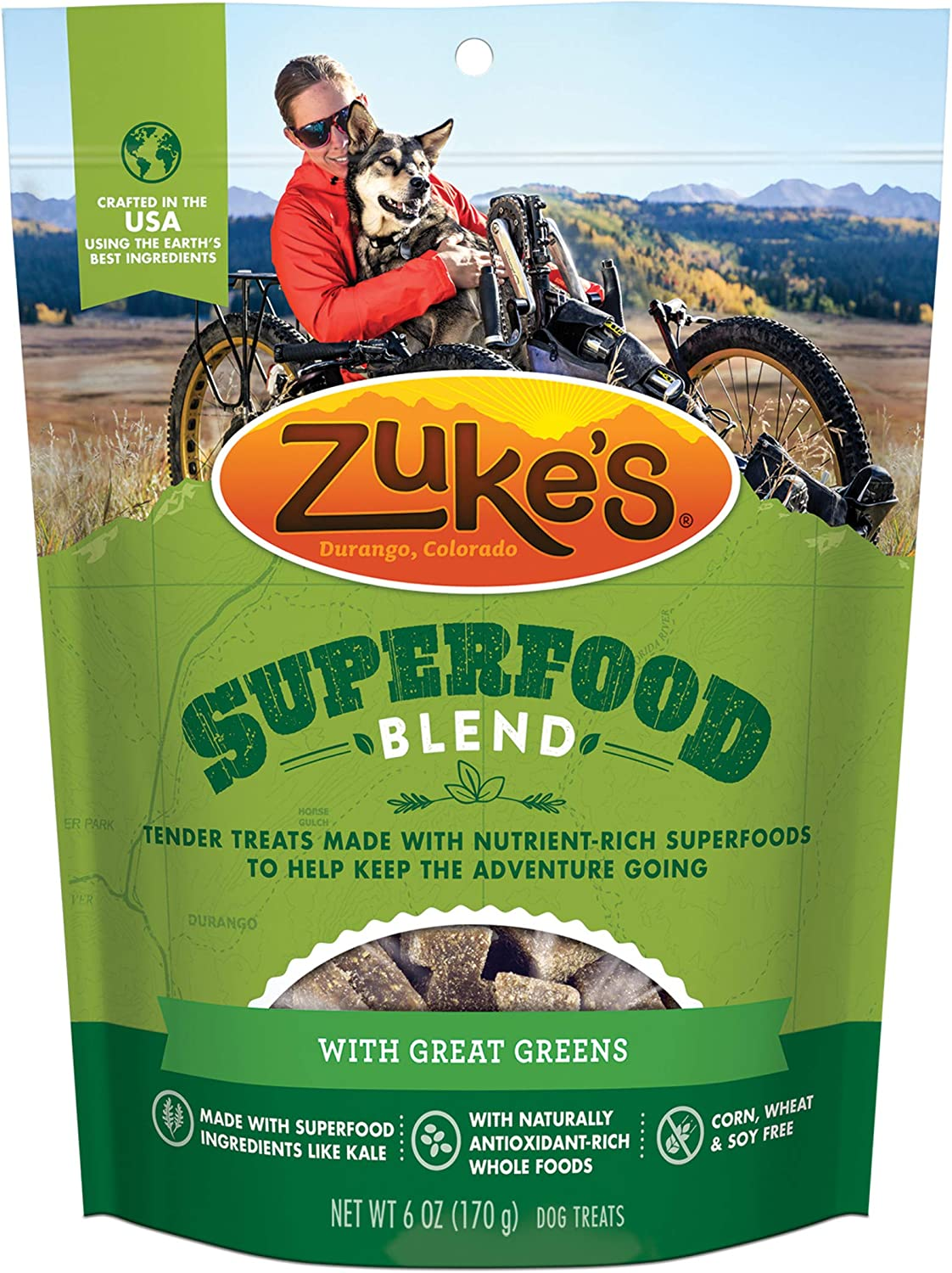 Zuke's Superfood Blend Natural Dog Treats Crafted in The USA