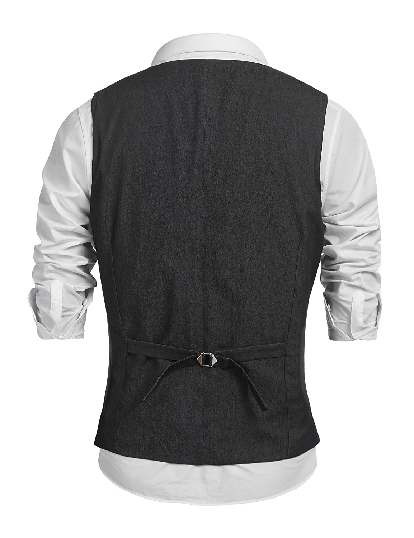 1a30d74be04 COOFANDY Men's Sleeveless Denim Vest Casual Slim Fit Lapel Jeans ...