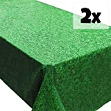 Grass Tablecovers (2), Minecraft Birthday Supplies, Luau and Summer Parties, Easter Events
