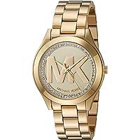 4d76a8ca687d Michael Kors Women s Mini Slim Runway Goldtone Three-Hand Watch