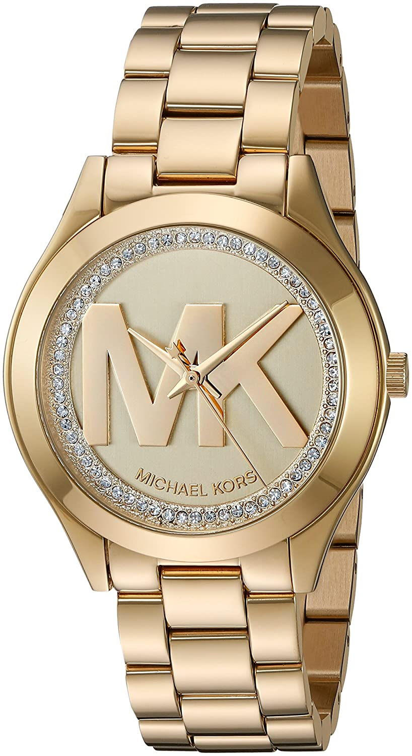bc48814443ff Amazon.com  Michael Kors Women s Mini Slim Runway Gold Watch MK3477  Watches