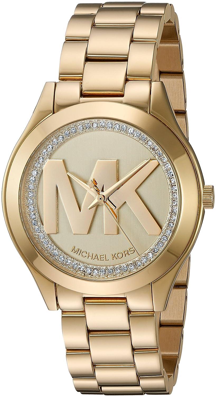 94d0c7f46f90 Amazon.com  Michael Kors Women s Mini Slim Runway Gold Watch MK3477  Watches