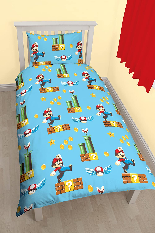 Nintendo Mario u0027Makeru0027 Single Duvet Set - Repeat Print Design Amazon.co.uk Kitchen u0026 Home & Nintendo Mario u0027Makeru0027 Single Duvet Set - Repeat Print Design ...