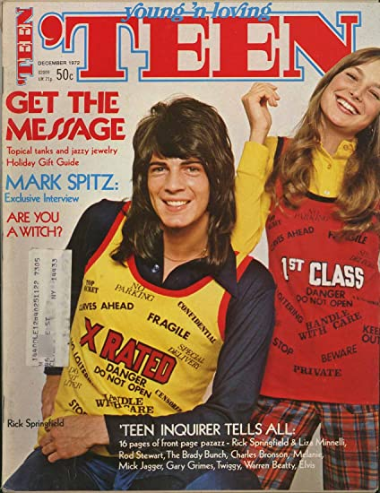 8d6938ecd2e5 Teen Magazine - December 1972 - Fashion Beauty   Entertainment for Young  America - Rick Springfield cover   pin-up at Amazon s Entertainment  Collectibles ...