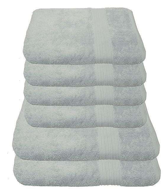 Juego de toallas Julie Julsen: 2 toallas de ducha, 4 toallas de mano, suaves y absorbentes, algodón, beige, 50 cm x 100 cm / 70 cm x 140 cm: Amazon.es: ...