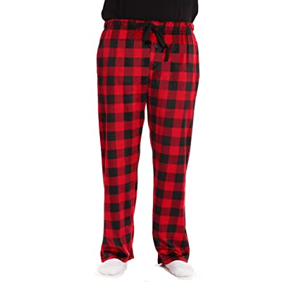 #followme Microfleece Men's Plaid Pajama Pants with Pockets at Amazon Men's Clothing store