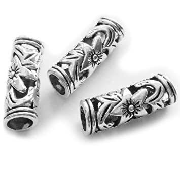 100//260Pcs New Tibetan Silver Spacer Beads Jewelry Making Beads Crafts 6X4mm