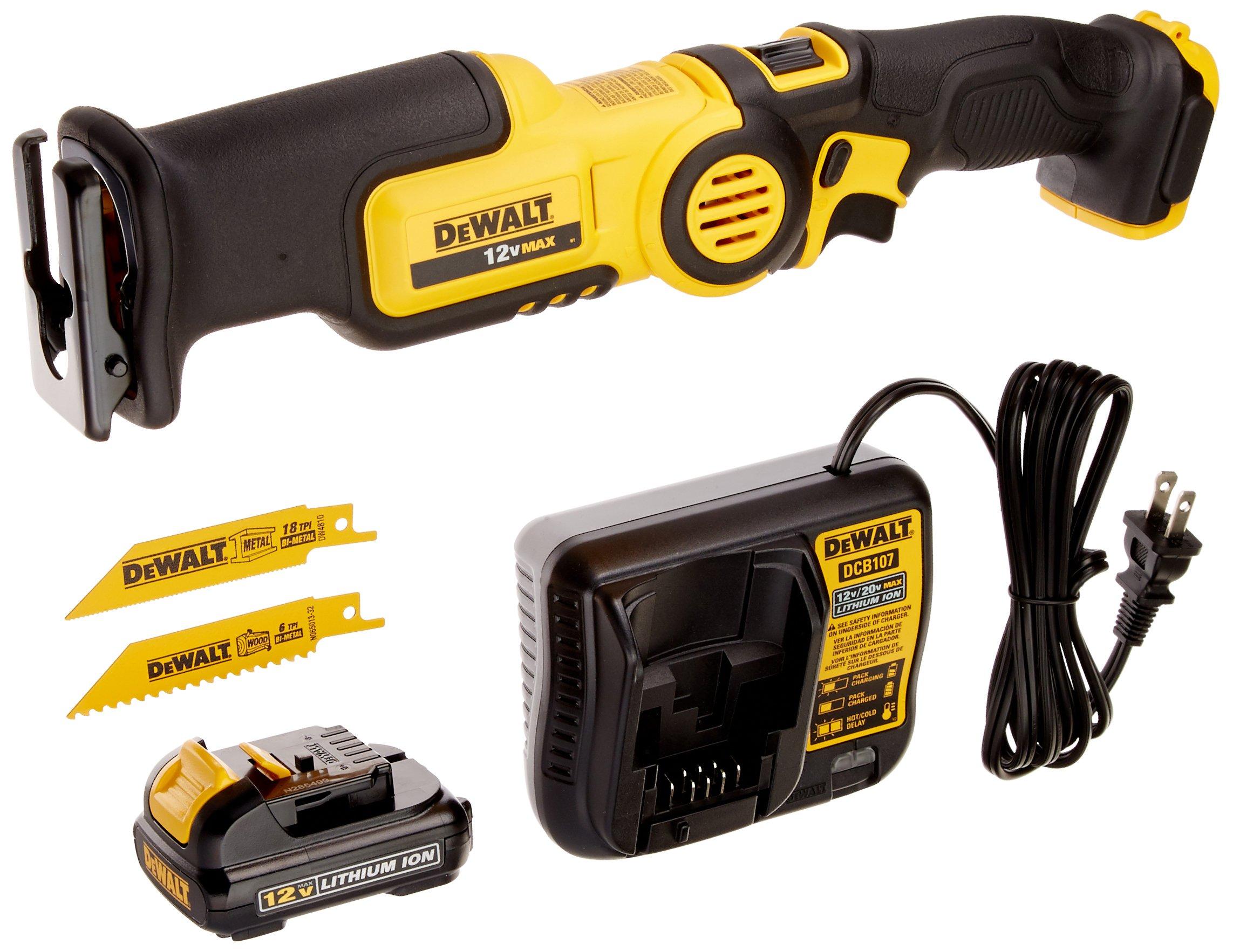 DEWALT 12V MAX Pivot Reciprocating Saw Kit (DCS310S1) by DEWALT