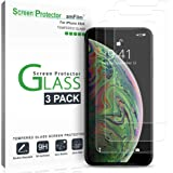 iPhone XS/X Screen Protector Glass (3-Pack), amFilm iPhone XS/X Tempered Glass Screen Protector with Easy Installation Tray for Apple iPhone XS, iPhone 10S (3-Pack)