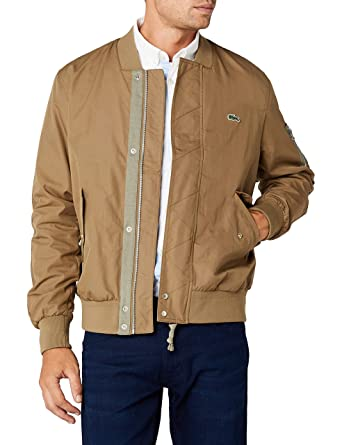 4d50505814 Lacoste BH3942 Blouson Beige (Kraft) X-Small (Taille Fabricant: 46 ...