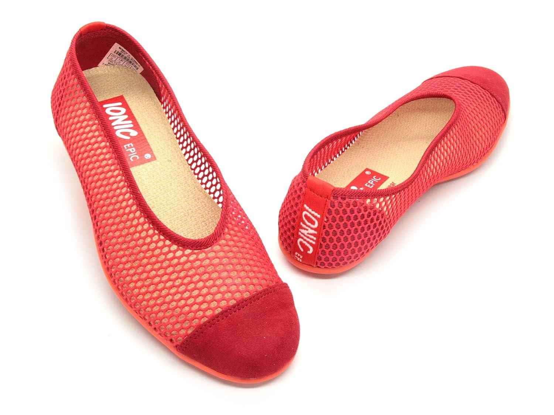 IONIC EPIC simply FABRIC footwear Women's Summer B00IEJ96TA 5.5 B(M) US|Red
