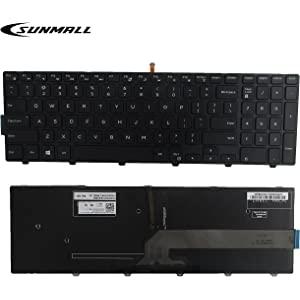 SUNMALL New Laptop Notebook Replacement Keyboard with Backlit Compatible with Dell Inspiron 15 3000 3541 3542
