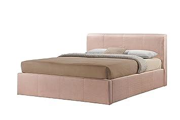 Excellent Birlea Brooklyn 5Ft Kingsize Fabric Ottoman Bed Wheat Theyellowbook Wood Chair Design Ideas Theyellowbookinfo