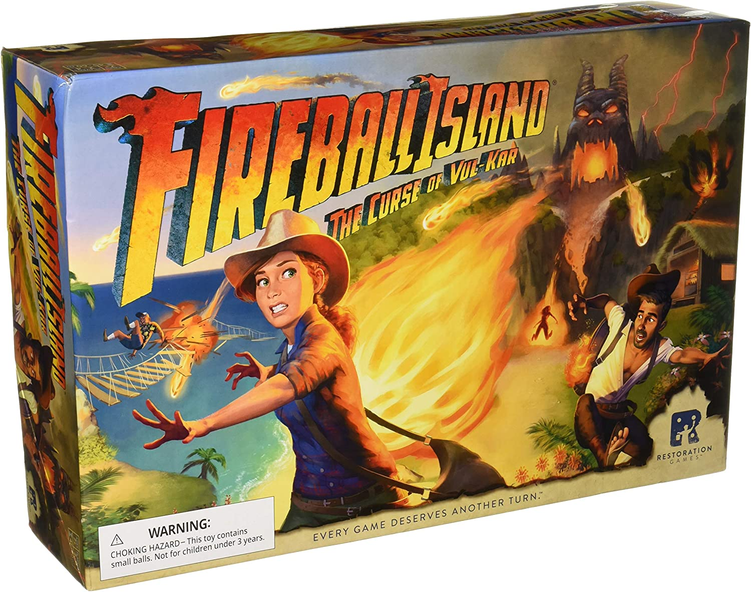 Avalon Hill Fireball Island: The Curse of Vul Kar: Amazon.es: Juguetes y juegos