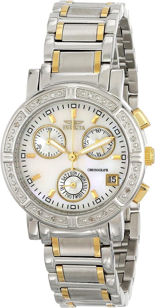 Invicta Wildflower 4719-DD 33 mm Diamantes Caja de Acero Inoxidable Chapado en Oro Acero Inoxidable Flame Fusion Reloj de Pulsera de Mujer: Amazon.es: Relojes