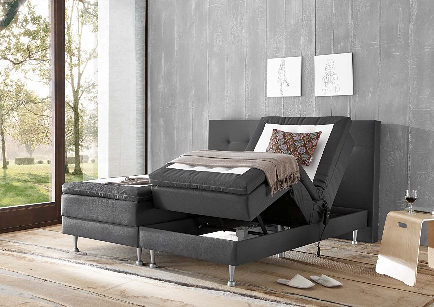 wellness edition 18332 boxspringbett boxspringbett 180x200 beste wahl boxspringbetten. Black Bedroom Furniture Sets. Home Design Ideas