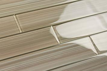 light brown cupatea glass subway tile for kitchen backsplash or